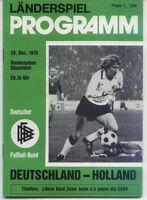 20.12.1978 Deutschland - Holland / Niederlande