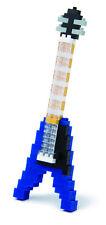 Nanoblock NBC.19-Guitarra Eléctrica Azul-Mini Serie 130 Piezas-Nuevo