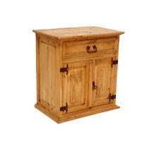Rustic 1 Drawer 2 Door Nightstand  03 Real Solid Wood Rustic Western Lodge