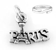 "STERLING SILVER ""EIFFEL TOWER- PARIS"" CHARM WITH ONE SPLIT RING"