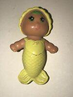 Vintage SEA WEES Mini Baby Yellow MERMAID DOLL Kenner 1979 SEA WEE