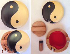 Jolie boite secret en bois hanmade, puzzle, bijoux box, casse tête YING et YANG