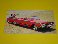 1964 MERCURY PARK LANE CONVERTIBLE POSTCARD, DEALER ADVERTISEMENT