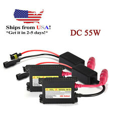 2x 12V 55W HID Xenon Kit Replacement Ultra Slim Digital DC Ballast Universal