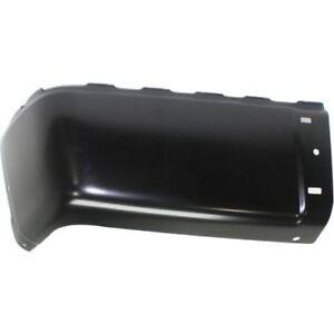 For Sierra 2500 HD 07-13, Rear, Driver Side Bumper End, Painted Black, Steel