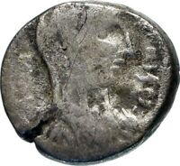 MALICHUS II & SHAQILATH II Arab Kingdom of Nabataea PETRA Rare Greek Coin i46669