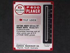 TILT SCALE FOR DURDEN P600 PLANER/ JOINTER