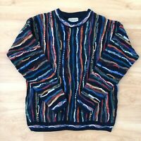 Vintage Mens Cosby Coogi Style Sweater 80s 90s Retro Jumper 3D Hip-Hop Meeroo