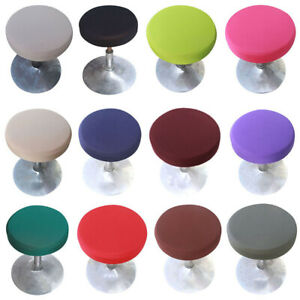 1/4/6pcs Round Stool Cover Bar Cafe Seat Protector Home Kitchen Stool Slipcovers