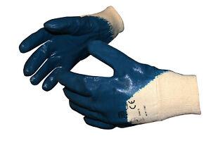 Arbeitshandschuhe 12 Paar Sicherheitshandschuhe Nitril Blau Handschuhe Größe 10