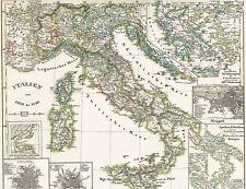 🎄🕯🎄 172 Jahre alte Landkarte ITALIEN 1270 - 1450 Sizilien im Mittelalter 1846