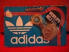 Vintage Adidas Retro Logo Metal Badge Key Chain Keyring in Original Packaging