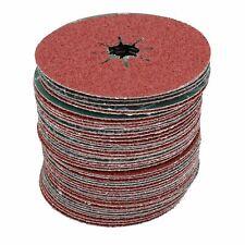 "115mm Fibre Coarse 36 Grit Sanding Abrasive Discs For Wood Metal 4-1/2"" 50pk"