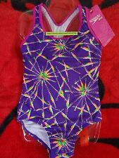 SPEEDO Swimsuit Girls Children Size 5 to 14 Purple Pink Rainbow Star Mix Colors