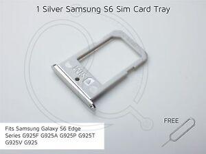 Silver Samsung S6 Edge SIM Card Tray G925F G925A G925P G925T G925V G925 sim pin