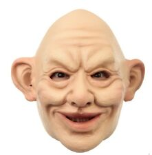 Funny Bert Bald Man Adult Latex Mask Old Grandpa Wrinkled Halloween Accessory