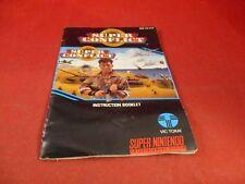Super Conflict Super Nintendo SNES Instruction Manual Booklet ONLY