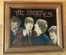 THE BEATLES PICTURE IN WOOD FRAME PHOTO JOHN PAUL GEORGE RINGO