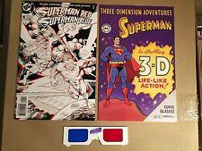 Three Dimension Adventures Superman w/ 3-D Glasses Red Blue 1 VF/NM