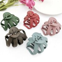 Solid Color Grip Hair Claw Hair Clip Girls Hairpin Crab Clamp Barrette Hot