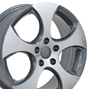 "OEW 17"" Wheel Rim Fits VW Volkswagen GTI VW20 Gunmetal Mach'd 17x7"