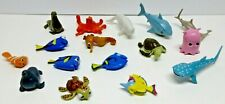 FINDING NEMO PLASTIC TOY LOT OF 16 PCS / 4 - 9 CM / IN DECENT CONDITION