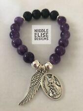 Aromatherapy Diffuser Lava Bracelet amethyst Gemstones anxiety Guardian Angel