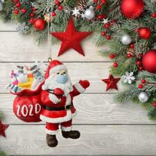 Christmas Tree Ornaments 2020 Santa Wearing Mask Hanging Decor Creative Gift 1pc