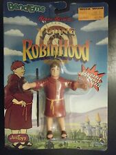 "JUSTOYS 1991 HANNA BARBERA BROTHER TUCK YOUNG ROBIN HOOD 5"" BENDM FIG NEW SEALED"