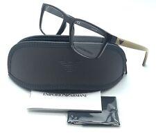 Emporio Armani Brown Eyeglasses EA 3103 5562 53 mm Designer  Demo Lenses