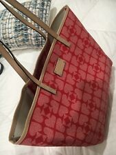 Kate Spade Large Tote - Pebbled Ace Of Spades Pink/Red