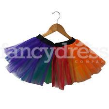 Ladies One Size Gay Pride Tutu Skirt Fancy Dress Fun Run Rainbow Clown NEW