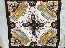 Silk Scarf Antique Convertible Roadster Mercedes Benz Square Big by Margo Klass