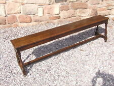Oak Victorian Antique Benches