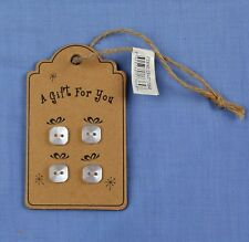 Buttons Wooden Gift Tag