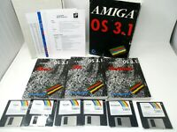 Amiga OS 3.1 Original Vintage Software Discs and Manual Untested As-Is