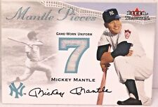 2000 MICKEY MANTLE Fleer Tradition GAME USED UNIFORM #7 Limited NEW YORK YANKEES