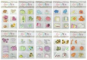 Crafty Bitz Die Cuts - 36 Pieces Highlighted with Foil - Scrapbook/Card Making