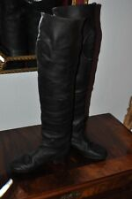 GERMAN OFFICER CALVARY BOOTS BLACK LEATHER NAILED SOLE ORIGINAL WW2 VERY RARE!