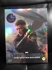 Captain America The Winter Soldier Kimchidvd Blu-Ray Steelbook Full Slip A2 New