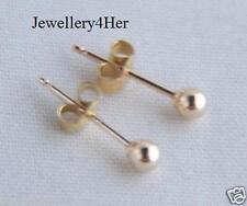 9ct Gold 2.5mm Extra Tiny Small Plain Round Ball Stud Sleeper Earrings X'MasGIFT