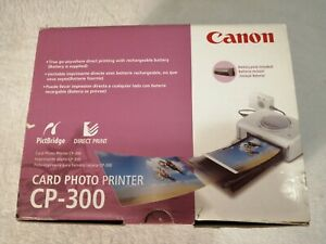 Canon CP-300 Digital Card Photo Printer Direct Print & Case & Accessories MINT