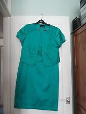Marks and Spencer Jade matching dress and jacket suit size 16,