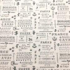 Yuwa Sixty-Eight Collection Sweet Cross Stitch Paris Themed Cotton Fabric Bthy