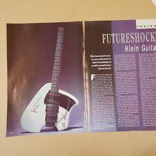 vintage 8x11 magazine cutting KLEIN GUITAR , 1991 , 3sides