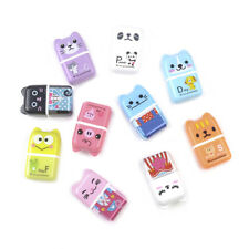 1pc Creative Cute Cartoon Roller Eraser Novelty School Supplies Stationery Gift