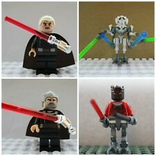 4 Mini Figures Toys Star Wars Darth Maul Count Dooku General Grievous Sith Lord