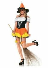 Kandy Korn Witch Adult 3 Piece Costume Small Petite Candy Corn Play