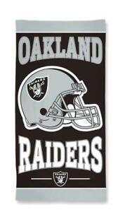 Oakland Raiders, NFL Football Beach Towel, Bath Towel Helmet Design
