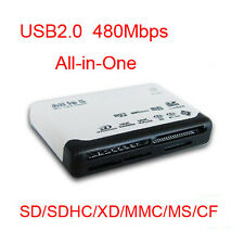 USB 2.0 Multi-Slot Mini Card Reader Writer SD/SDHC/XD/MMC/MS/M2/T-Flash